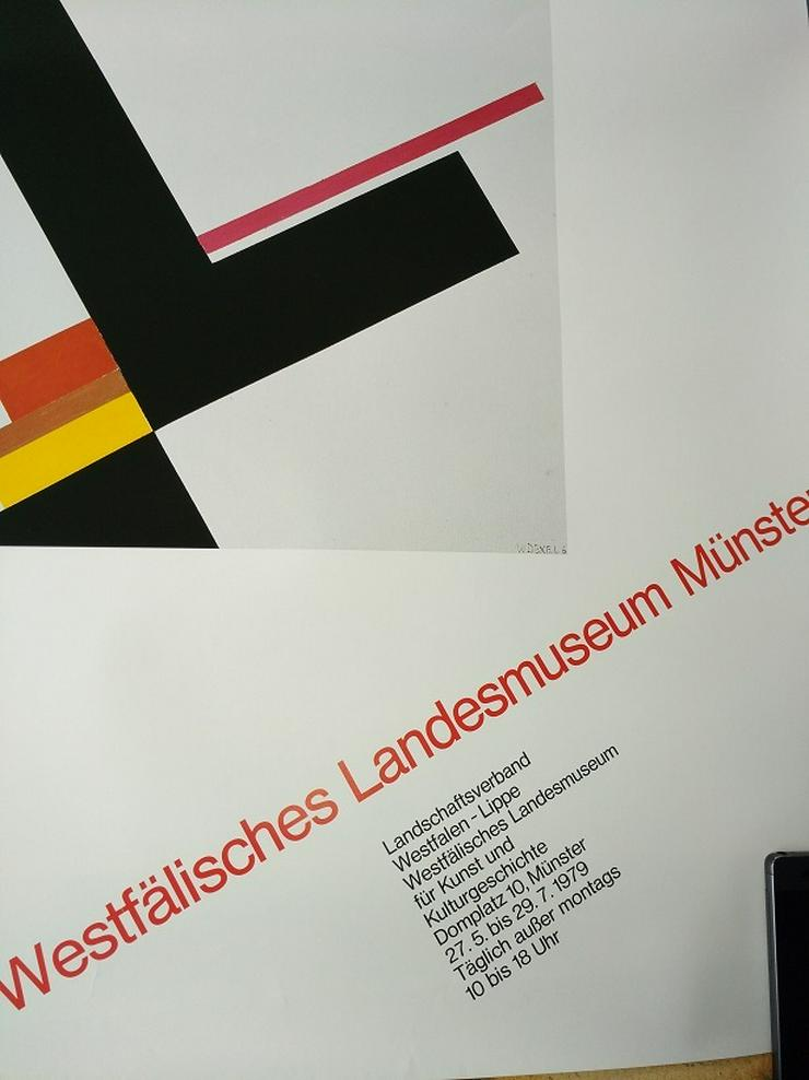Bild 2: Ausstellungs Plakat 1979  Bauhaus Kunst  W Dexel