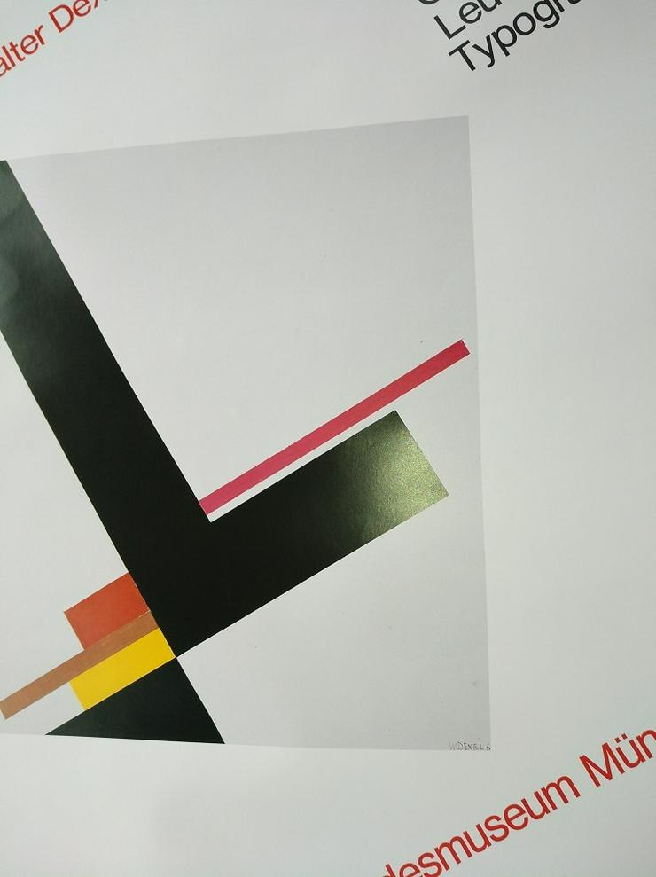 Bild 4: Ausstellungs Plakat 1979  Bauhaus Kunst  W Dexel