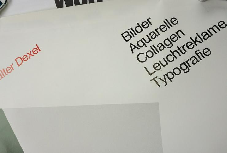 Bild 3: Ausstellungs Plakat 1979  Bauhaus Kunst  W Dexel