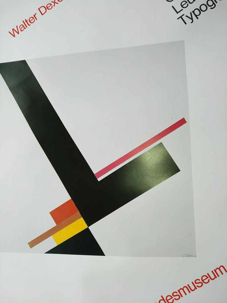 Ausstellungs Plakat 1979  Bauhaus Kunst  W Dexel - Poster, Drucke & Fotos - Bild 1