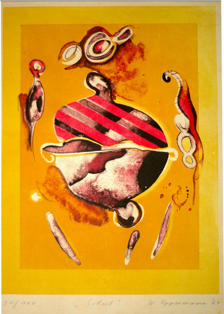 Oppermann, Siebdruck 1967, 38x55