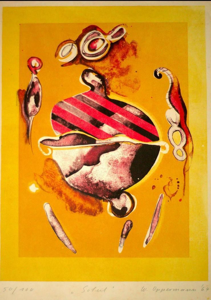 Bild 2: Oppermann, Siebdruck 1964, 38x55