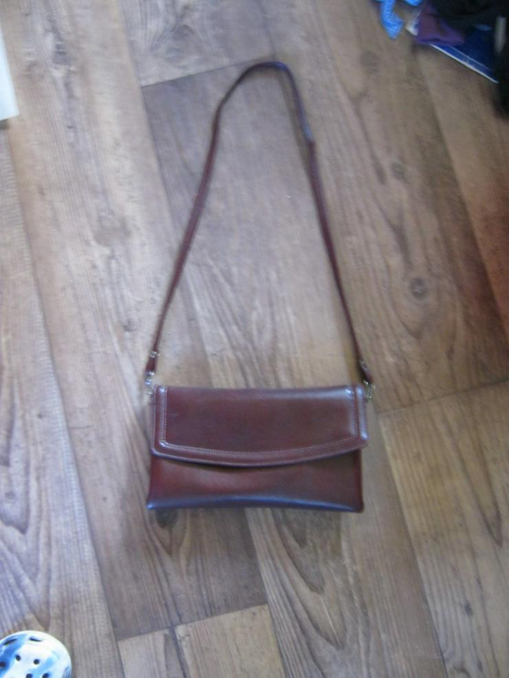 rot/braune Handtasche