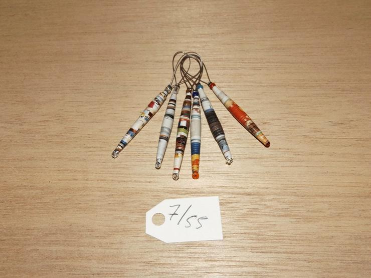 Maschenmarkierer 6 Stück mit Papierperle--Nr-7/55