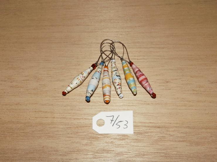 Maschenmarkierer 6 Stück mit Papierperle--Nr-7/53