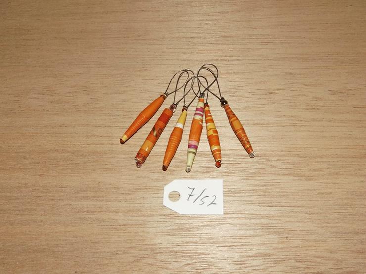 Maschenmarkierer 6 Stück mit Papierperle--Nr-7/52
