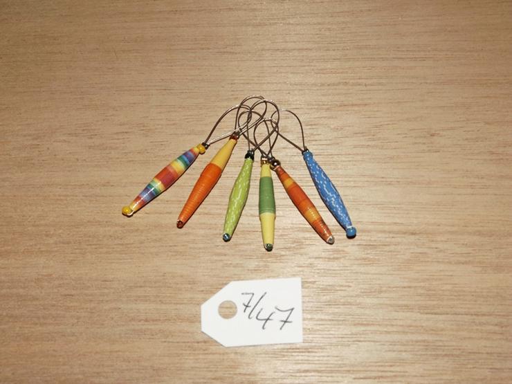 Maschenmarkierer 6 Stück mit Papierperle--Nr-7/47
