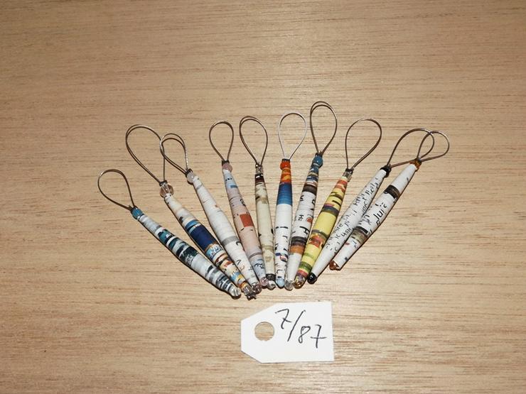 Maschenmarkierer 10 Stück mit Papierperle--Nr-7/87
