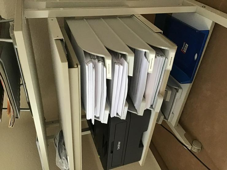 Druckertisch Computertisch weiß rollbar