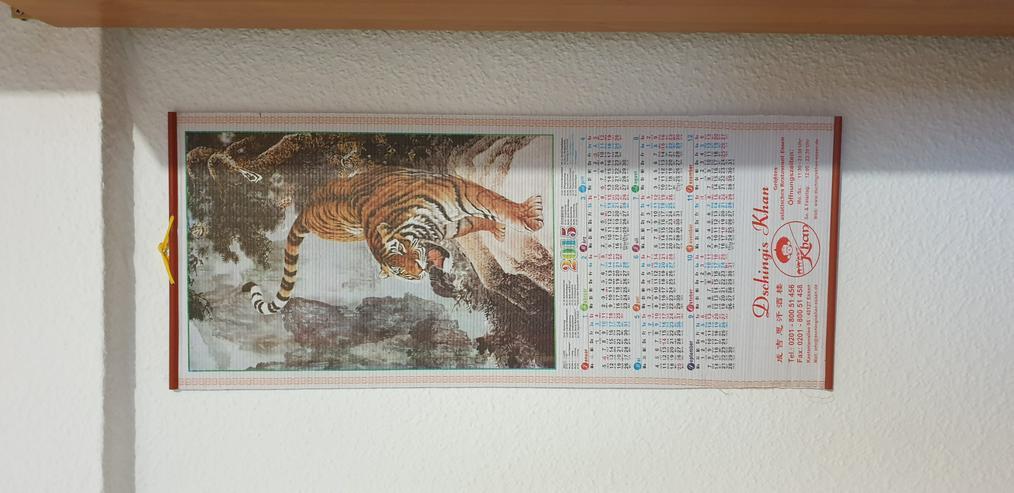 Chinesische Kalender aus Buffets