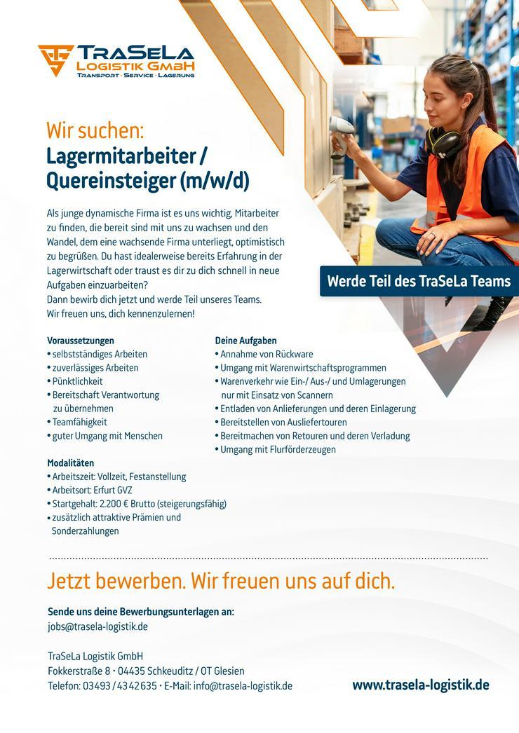 Lagerarbeiter/ Quereinsteiger (m/w/d)