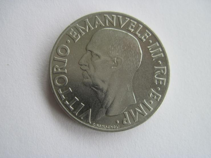 Alte Münze 1 Lire / Lira Italien 1939 Vittorio Emanuele III.