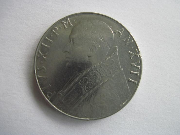 Münze 100 Lire 1955 Vatikan Pius XII. vorzüglich erhalten