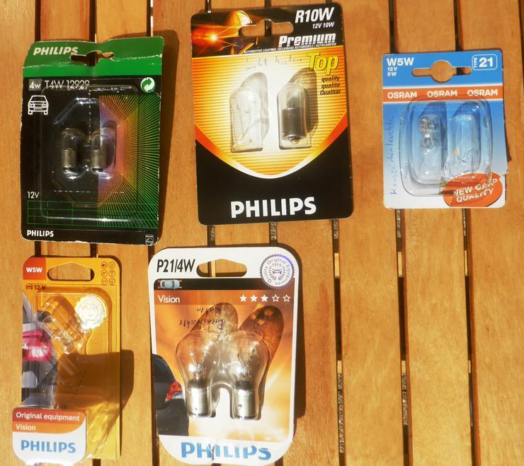 Phillips Ersatzbirnen Lampenset 12V Konvolut Ersatzlampen Auto