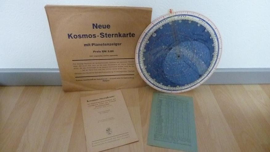Kosmos Sternkarte von 1942, mit Planetenanzeiger