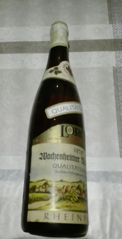 Bild 3: Weinflasche 1973 Qualitätswein Wachenheimer Mandelgarten