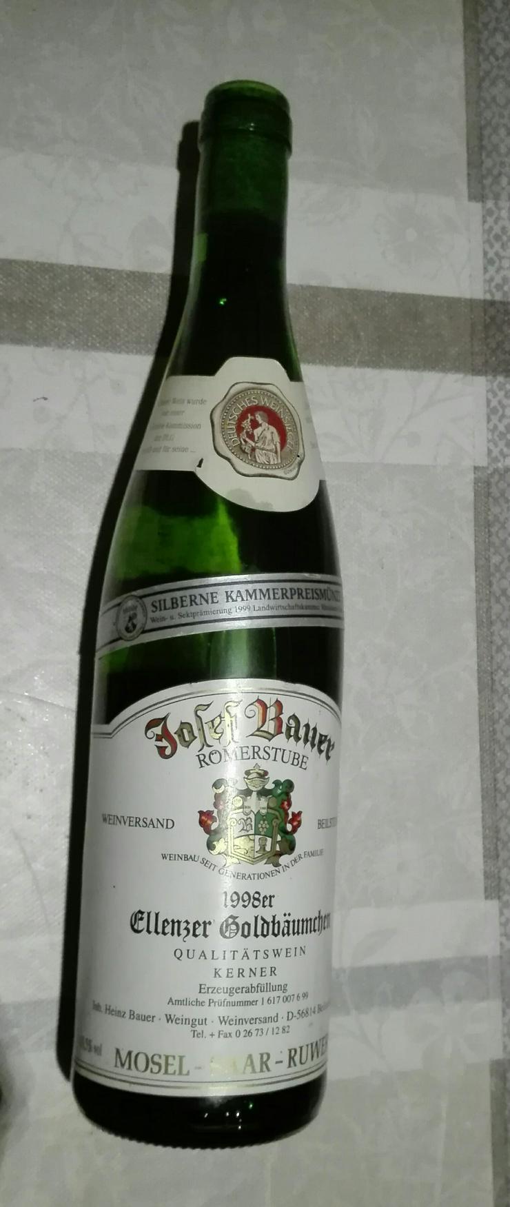 Bild 3: Weinflasche 1998 Ellenzer Goldbäumchen, Qualitätswein Kerner