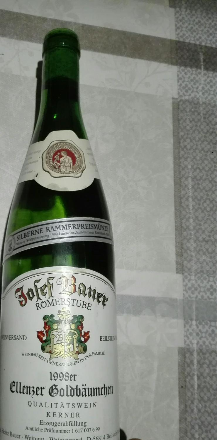 Weinflasche 1998 Ellenzer Goldbäumchen, Qualitätswein Kerner
