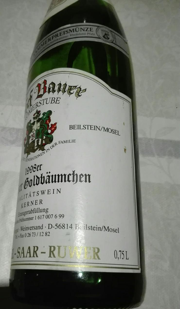 Bild 2: Weinflasche 1998 Ellenzer Goldbäumchen, Qualitätswein Kerner