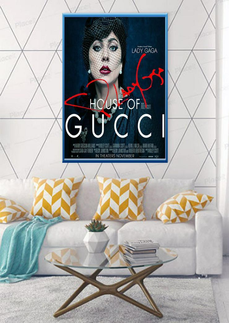 LADY GAGA. Gucci. Florenz. Souvenir. Deko. Mode. Film. Mord. Poster. Geschenk. Rarität. BRANDNEU!