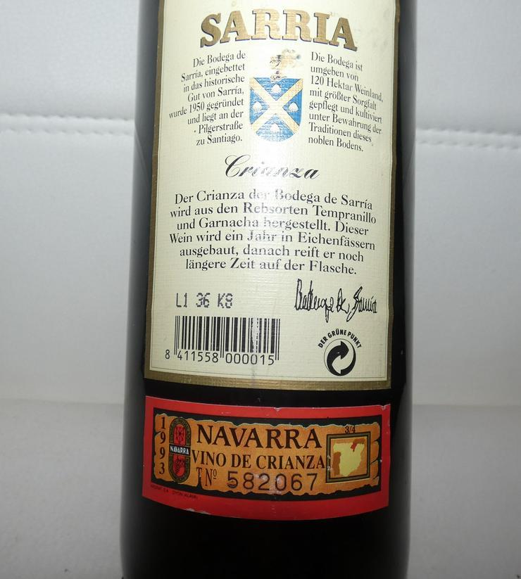 Bild 4: Crianza Navarra Senorio de Sarria 1993 spanischer Rotwein