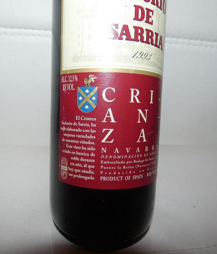 Bild 2: Crianza Navarra Senorio de Sarria 1993 spanischer Rotwein