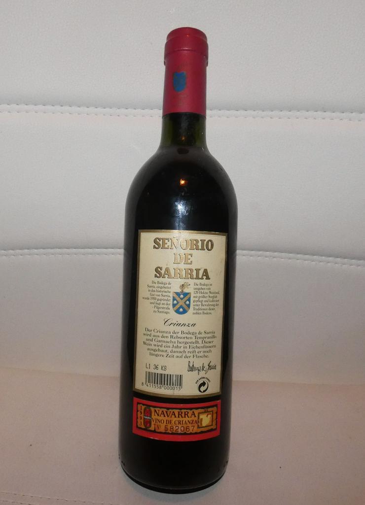 Bild 3: Crianza Navarra Senorio de Sarria 1993 spanischer Rotwein