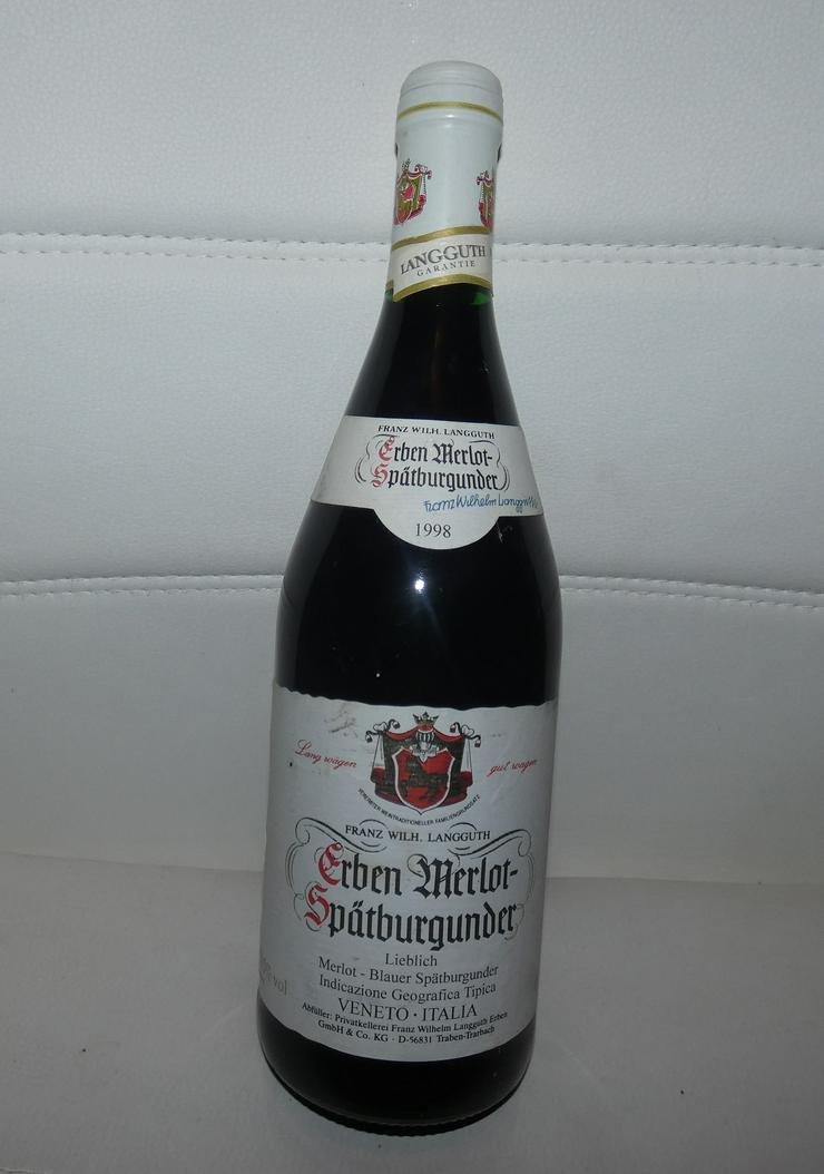 Erben Merlot Blauer Spätburgunder 1998 - Wein aus Spanien - Bild 1