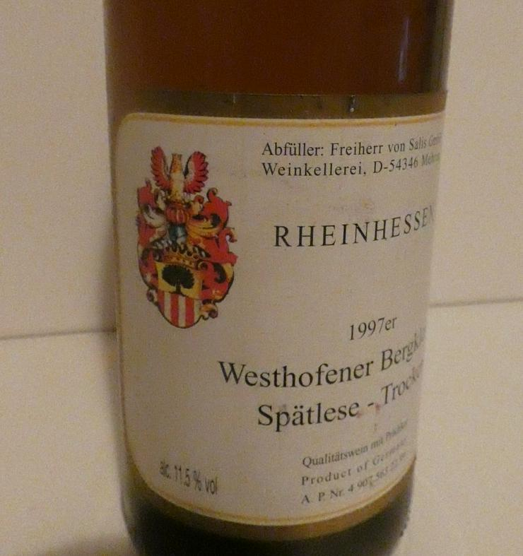 Bild 5: Weinflasche Westhofener Bergkloster Spätlese trocken Rheinhessen