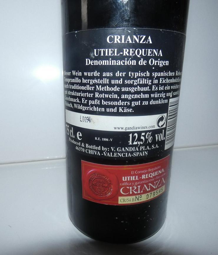 Bild 3: Crianza Utiel Requena von 1996, Wein aus Spanien