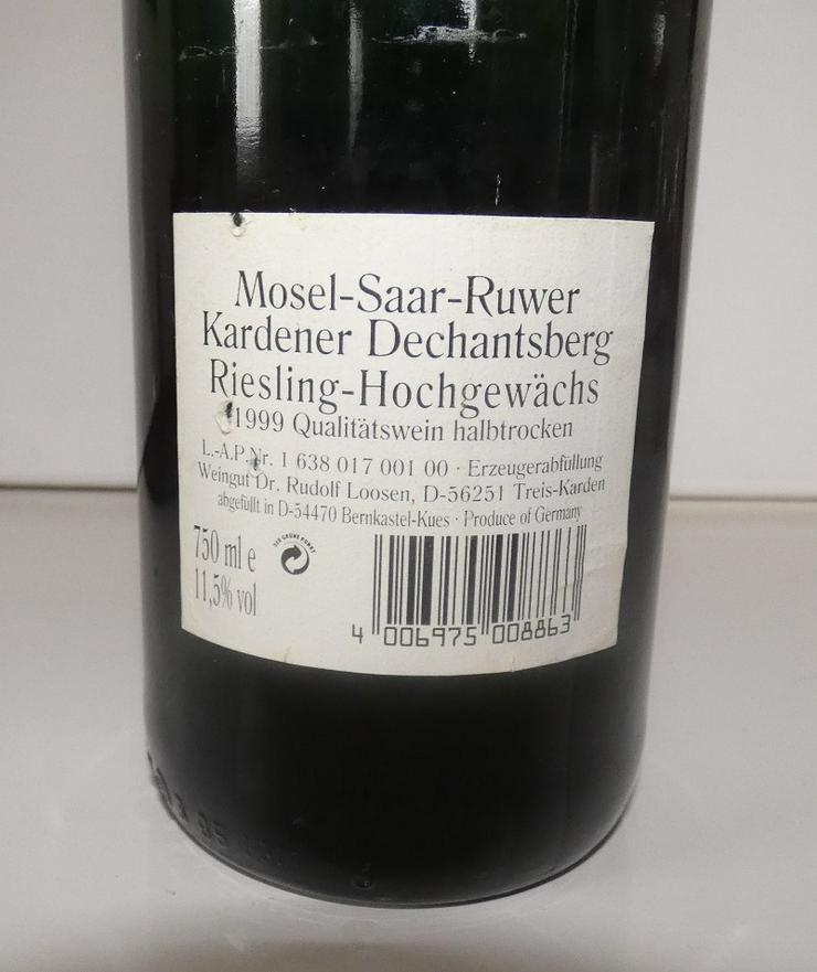 Bild 4: Weingut Dr. Rudolf Loosen, Kardener Dechantsberg 1999