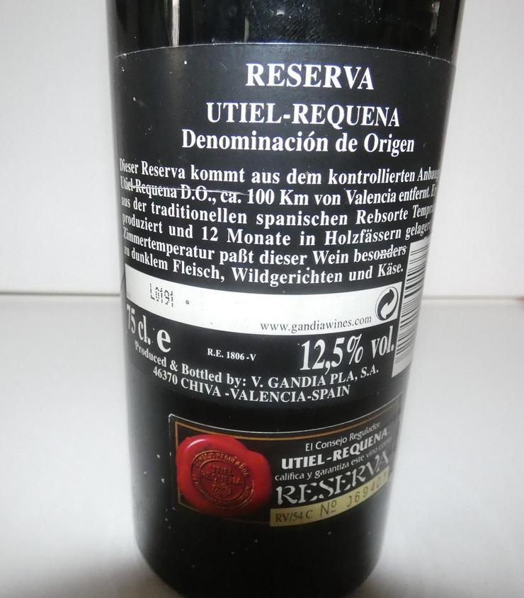 Bild 4: Reserva Utiel Requena von 1995, Wein aus Spanien