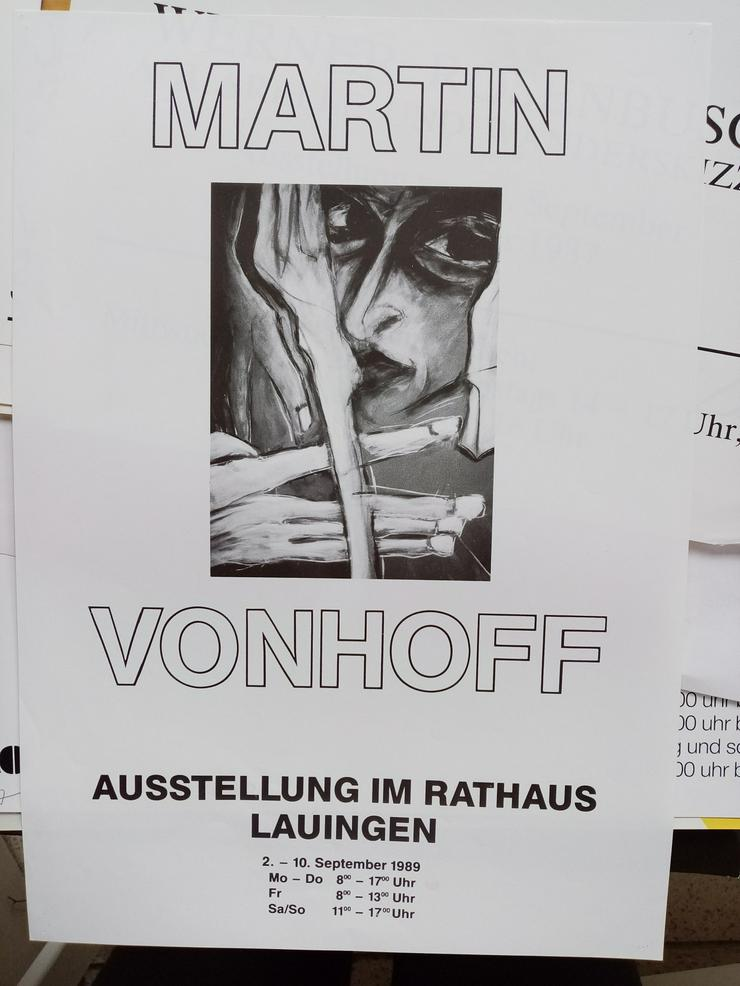 Martin Vonhoff  Ausstellungs Plakat  1989  Lauingen