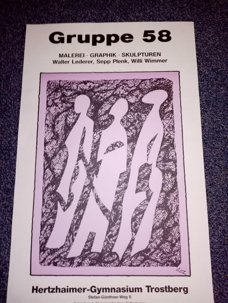 Lederer Plenk Wimmer Gruppe 58 Plakat 1989 Trostberg