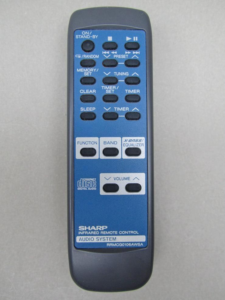 Sharp RRMCG0106AWSA Fernbedienung