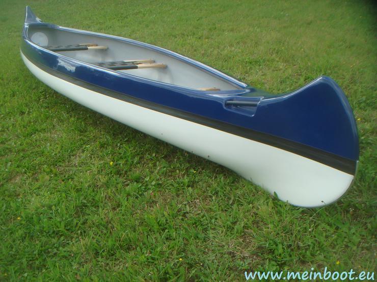 Kanu 3er Kanadier 500 Neu ! in blau /weiß - Kanus, Ruderboote & Paddel - Bild 1