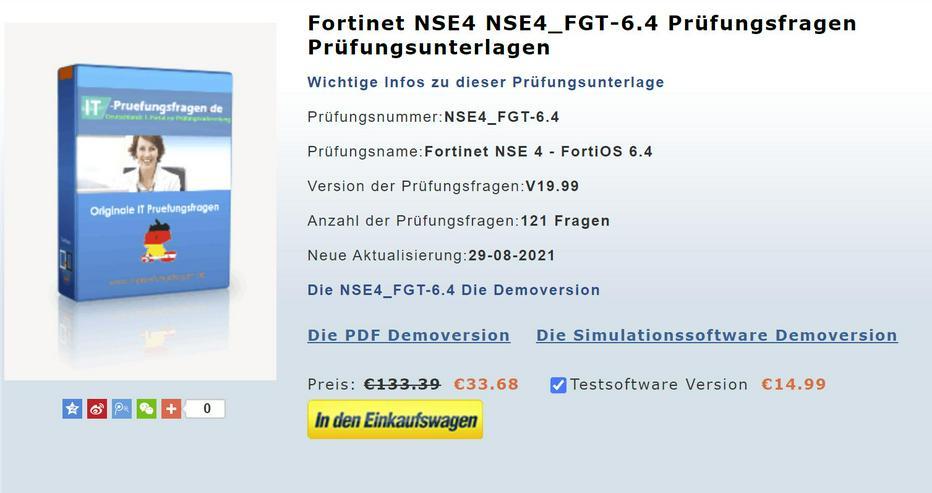 Prüfungsfragen zur NSE4_FGT-6.4 zertifizierung buch
