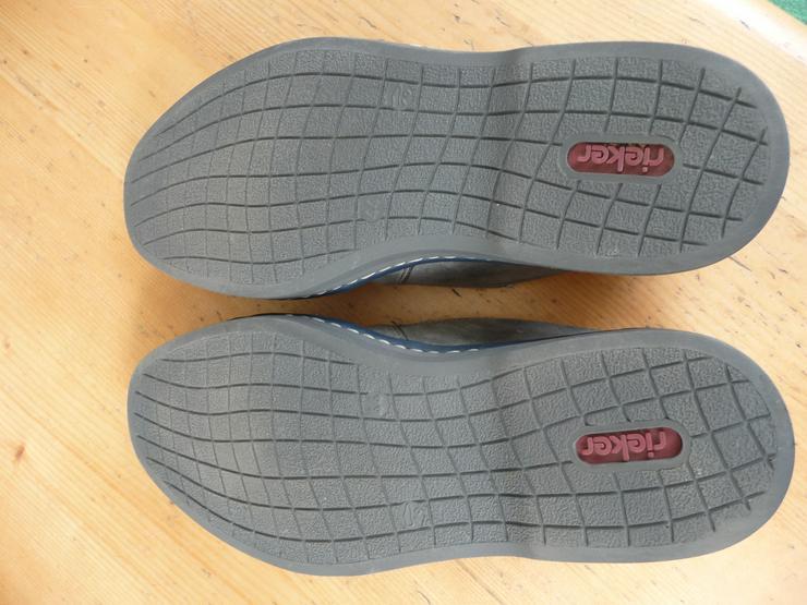 Bild 4: Rieker Herrenhalbschuhe (Slipper), grau, Größe 44, wenig getragen