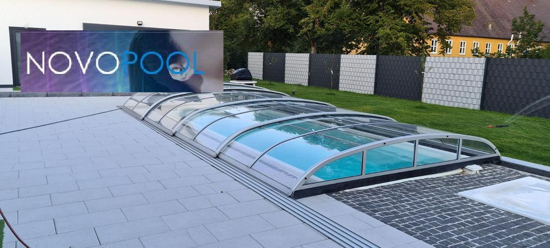 Poolueberdachung Elegant 8m ELOX 24 Std. Gratis Lieferung