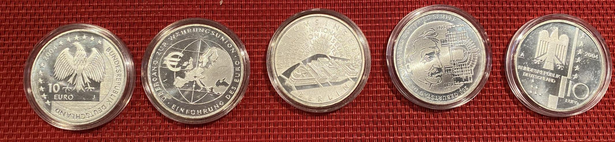 Konvolut Münzen (5DM,Euro-Gedenkmünzen,DM-Scheine)