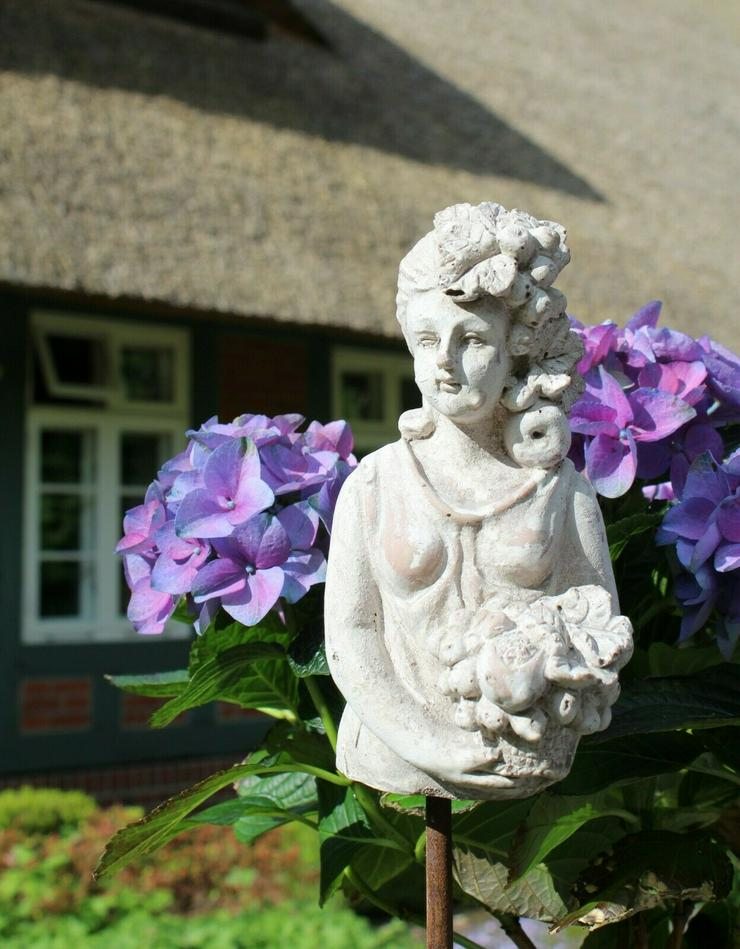 Zauberhafter Gartenstab, Beetstecker Fleurette im antique shabby