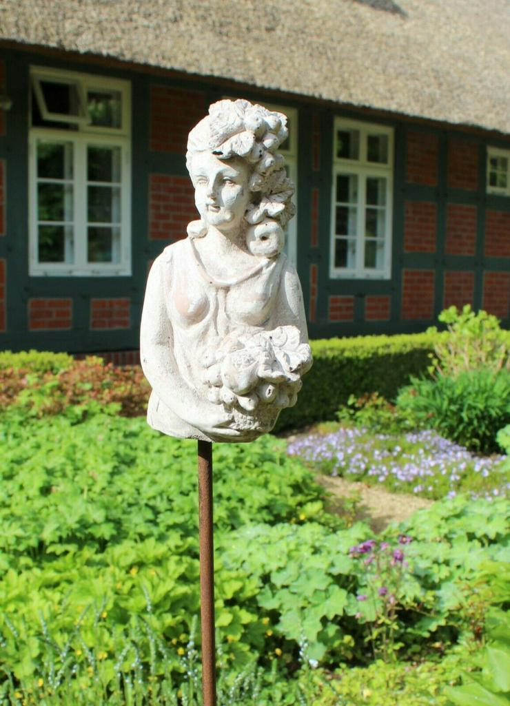 Bild 2: Zauberhafter Gartenstab, Beetstecker Fleurette im antique shabby