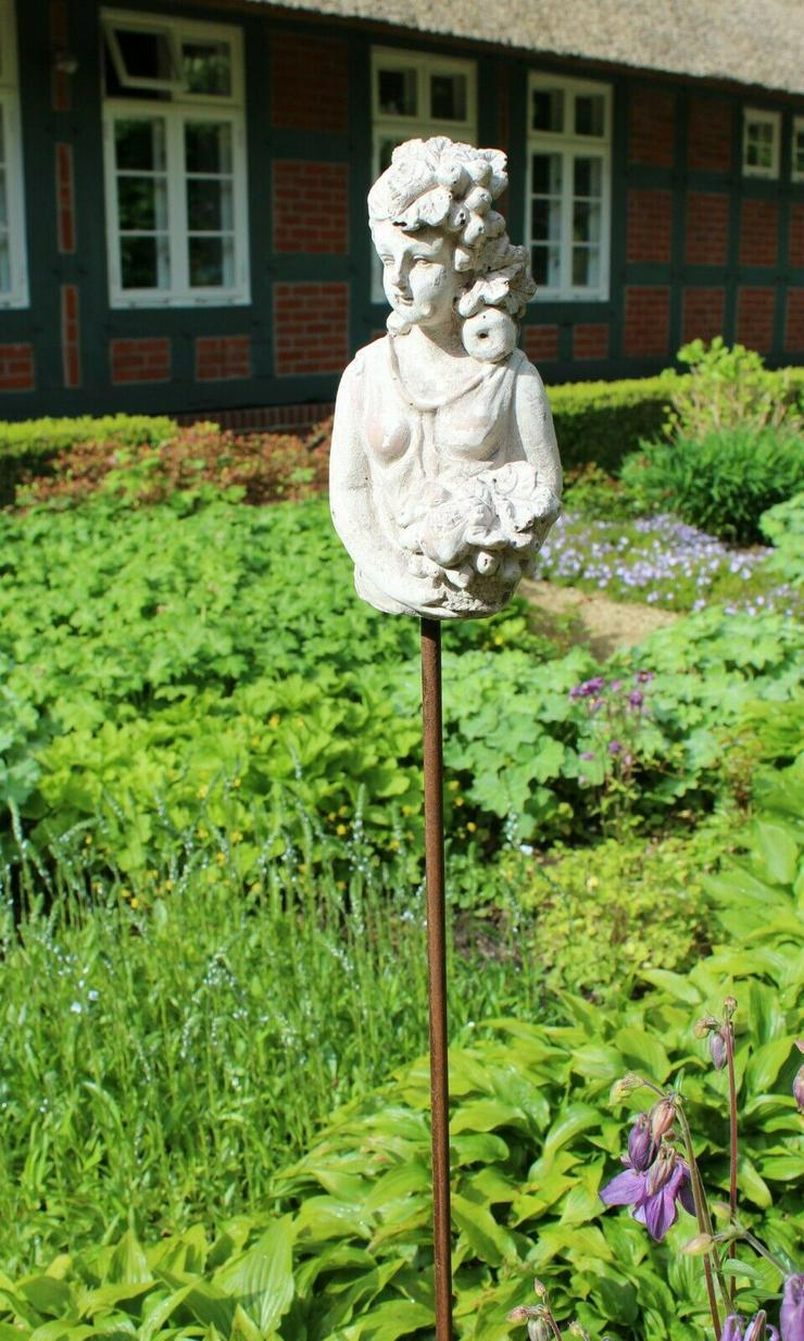 Bild 3: Zauberhafter Gartenstab, Beetstecker Fleurette im antique shabby