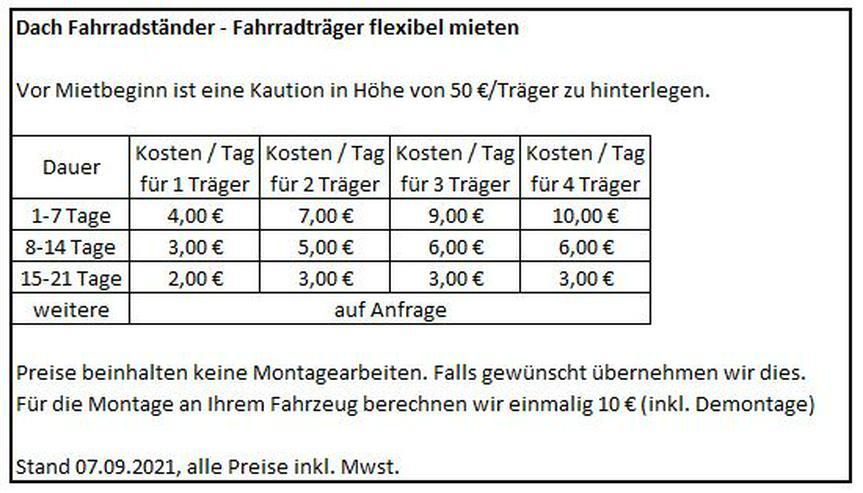 Bild 3: Fahrradträger Fahrradhalter - flexibel mieten. Ab 4€/Tag