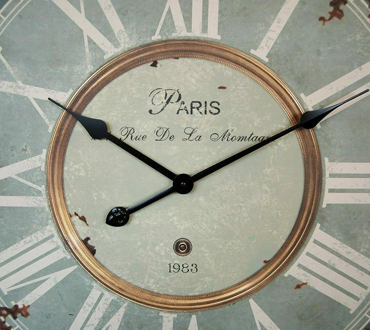 """Bild 2: Wanduhr """"Paris"""" im Landhaus Shabby Chic french Stil, Durchmesser"""