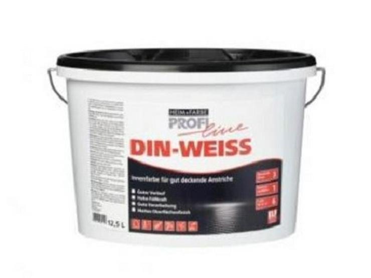 ProfiLine DIN Weiss Wandfarbe matt 12,5L, Rabatt ab 3 Eimer