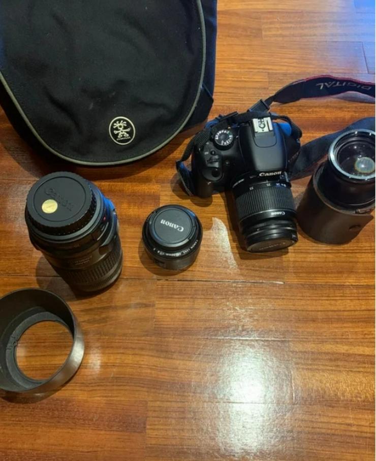 Kamera CANON mit 3 Objektiven