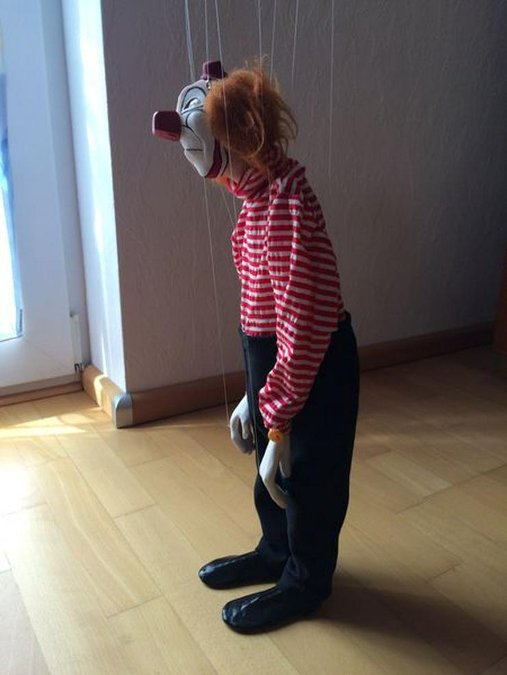 """Bild 4: UNBESPIELT Marionette """"Clown"""", Handarbeit"""