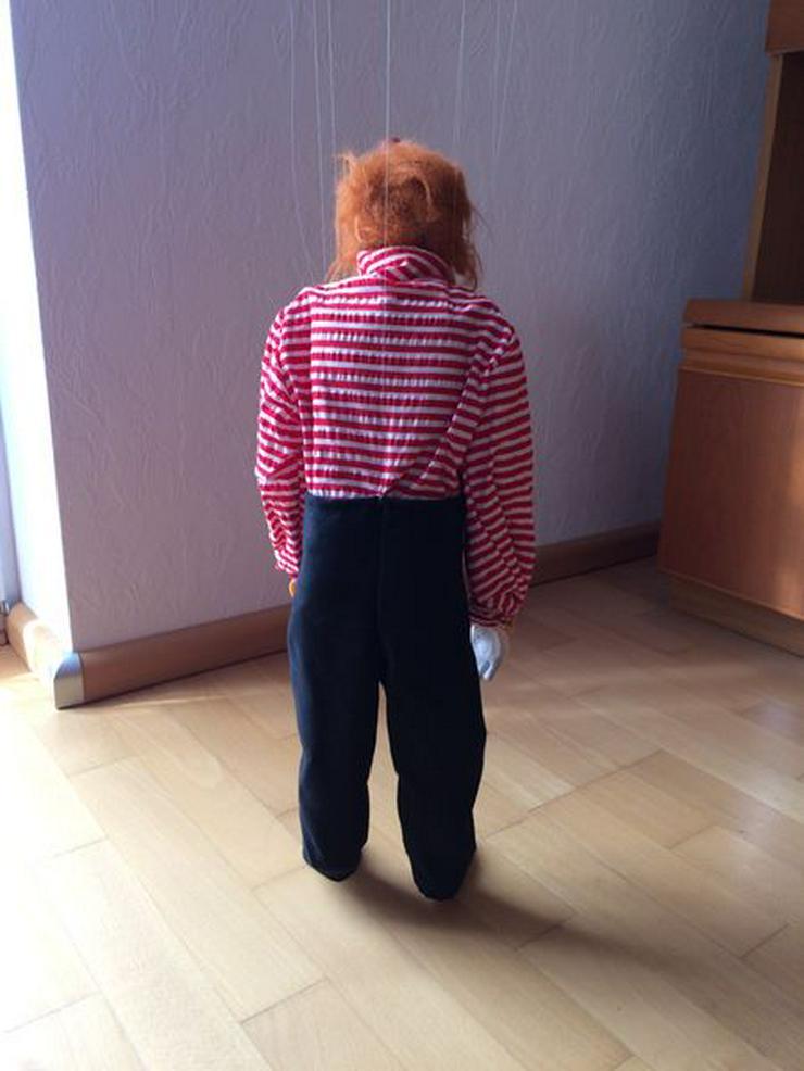 """Bild 3: UNBESPIELT Marionette """"Clown"""", Handarbeit"""