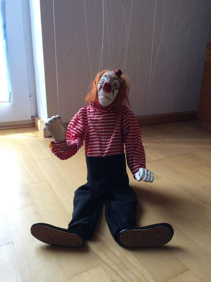 """Bild 5: UNBESPIELT Marionette """"Clown"""", Handarbeit"""